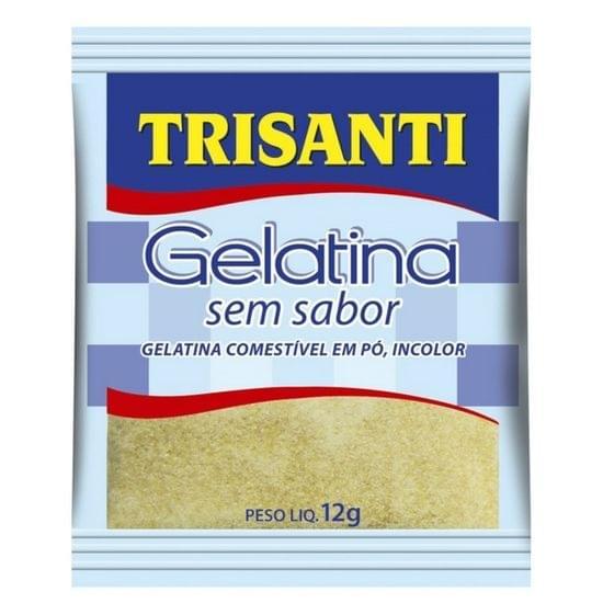 Imagem de Gelatina em po sem sabor e incolor trisanti