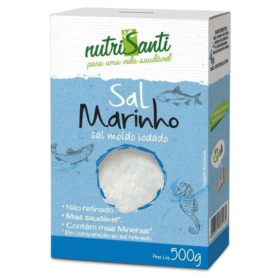 Imagem de Sal marinho fino 500g nutrisanti