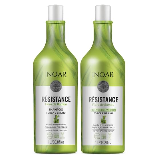 Imagem de Kit resistance bambu shampoo + condicionador 1 litro inoar