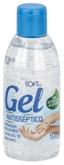 Imagem de Gel higienizador para maos com alcool 100g softfix