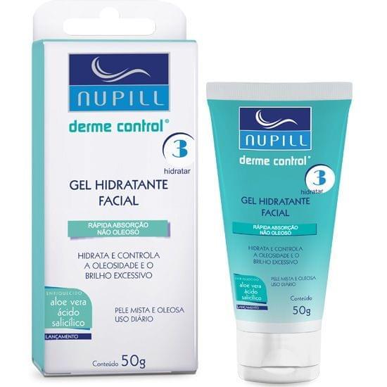 Imagem de Gel hidratante facial anti-acne derme control 50g - nupill