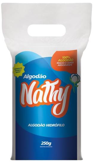 Imagem de Algodão puro hidrófilo 100% macio nathy 250g rolo