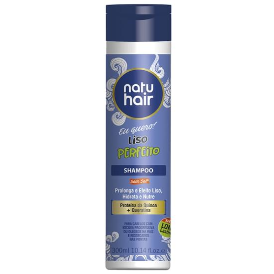 Imagem de Shampoo liso perfeito 300ml natuhair