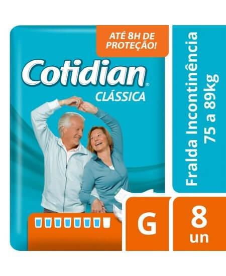 Imagem de Fralda adulto cotidian classica g com 8 unidades softys