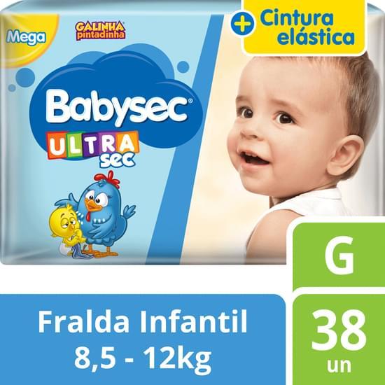 Imagem de Fralda babysec galinha pintadinha ultrasec g com 38 unidades softys