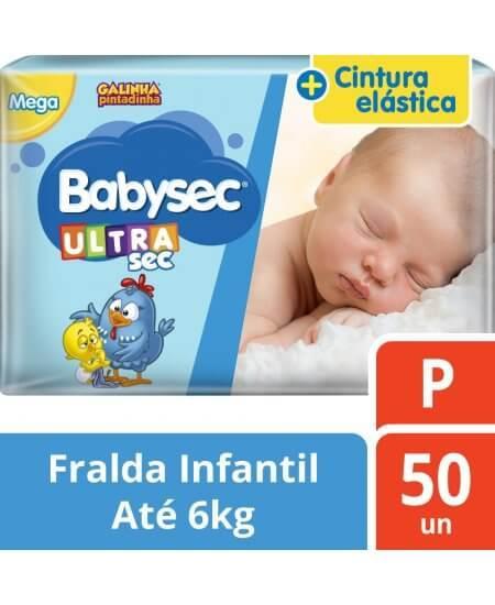 Imagem de Fralda babysec galinha pintadinha ultrasec p com 50 unidades softys