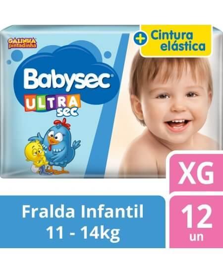 Imagem de Fralda babysec galinha pintadinha ultrasec xg com 12 unidades softys