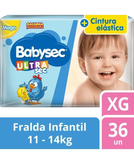 Imagem de Fralda babysec galinha pintadinha ultrasec xg com 36 unidades softys