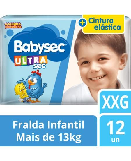 Imagem de Fralda babysec galinha pintadinha ultrasec xxg com 12 unidades softys