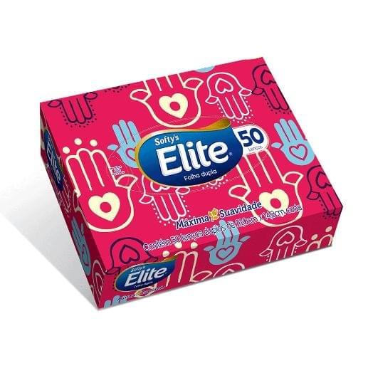 Imagem de Lenços de papel elite máxima suavidade folha dupla softys