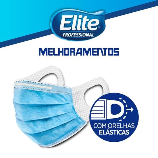 Imagem de Mascara de proteção cirúrgica orelha elastica 50 unidades softys