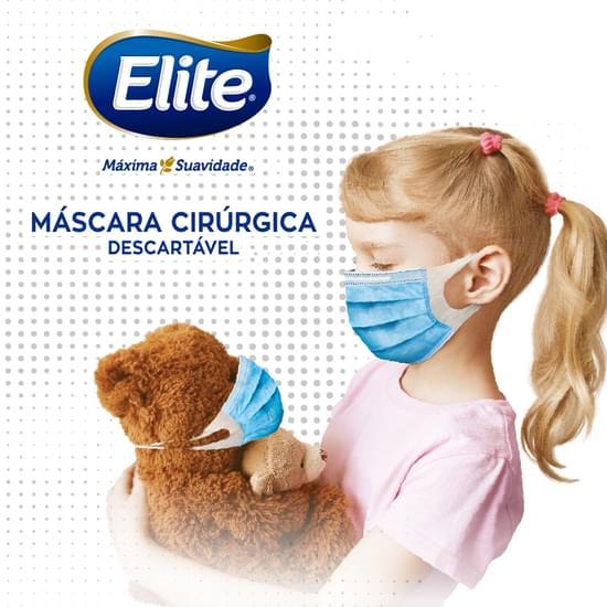 Imagem de Mascara de proteção cirúrgica orelha elastica 8 unidades softys