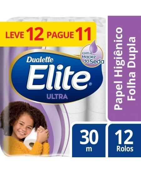 Imagem de Papel higienico folha dupla elite ultra l12p11 rolos de 30m softys