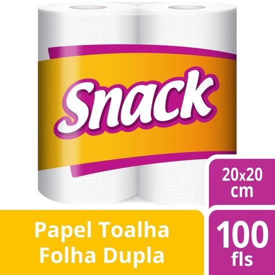 Imagem de Papel toalha snack com 2 rolos de 50 folhas cada softys