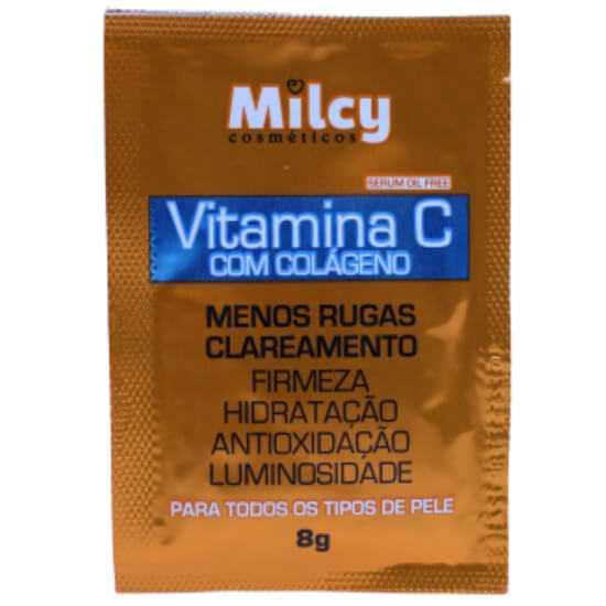Imagem de Milcy mascara facial colageno e vitamina c sache 8g