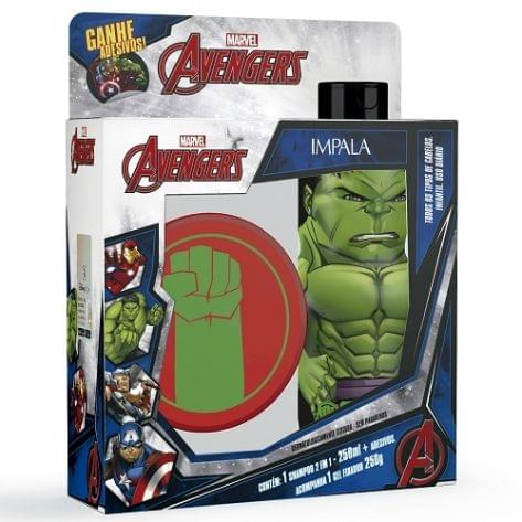 Imagem de Kit impala avengers hulk gel fixador 250gr+shampoo 2em1 250ml