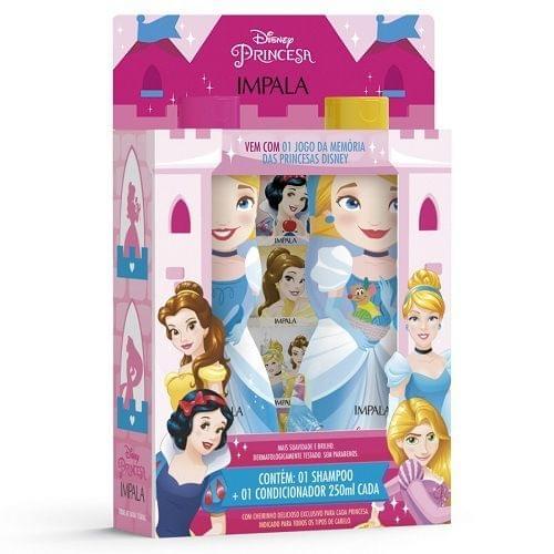 Imagem de Kit impala princesas cinderela shampoo + condicionador 250ml