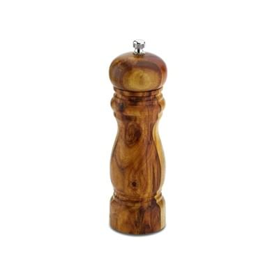 Imagem de Moedor de sal ou pimenta tradicional 15cm madeira