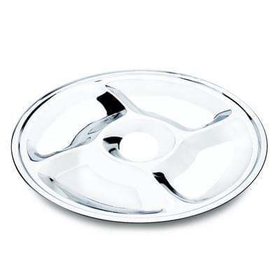Imagem de Petisqueira 5 divisórias frios petisco fondue inox 35cm
