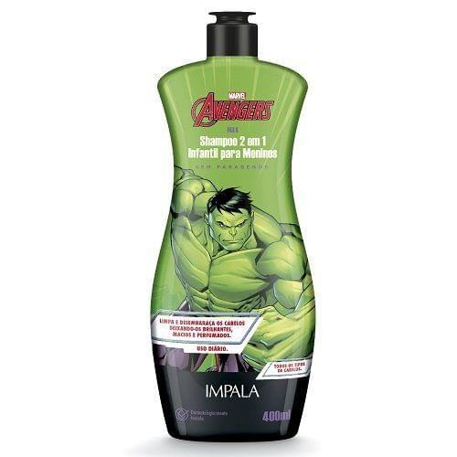 Imagem de Shampoo 2 em 1 infantil marvel hulk 400ml impala