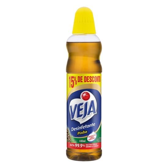 Imagem de Desinfetante multiuso aroma pinho veja frasco 480ml off 15%