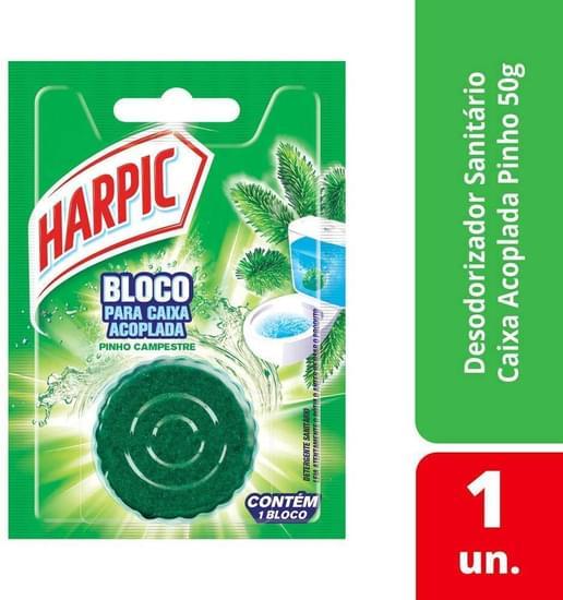 Imagem de Detergente sanitário bloco caixa acoplada pinho harpic