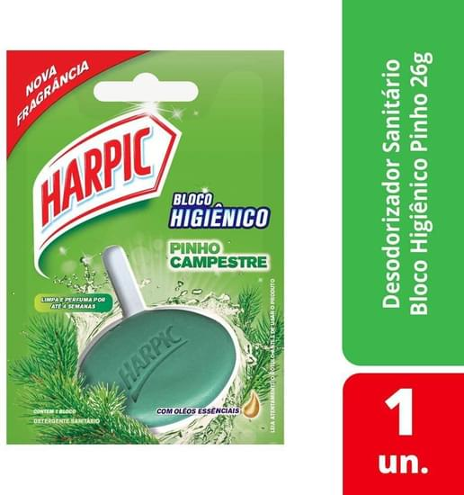 Imagem de Detergente sanitário bloco pinho campestre harpic 26gr