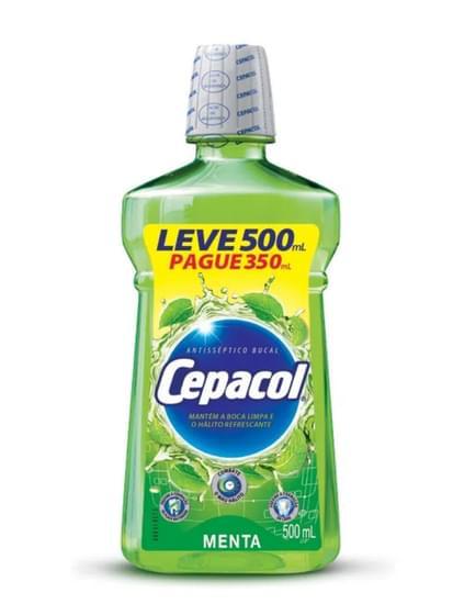 Imagem de Enxaguante bucal menta leve 500ml pague 350ml cepacol