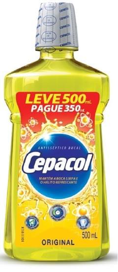 Imagem de Enxaguante bucal tradicional 500ml pague 350ml cepacol