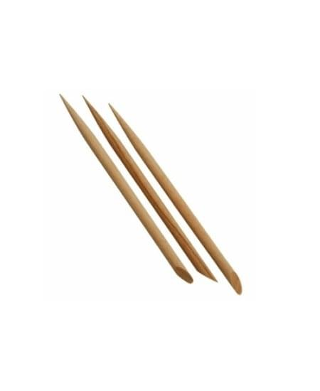 Imagem de Palito para unha madeira marfim com 3 unidades santa clara
