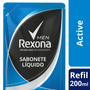 Imagem de Sabonete líquido refil rexona 200ml active fresh
